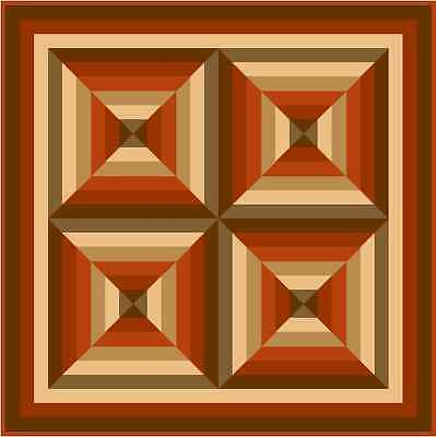 """HULLABALOO - Tawny - 46"""" - Quilt-Addicts Pre-cut Patchwork Quilt Kit Lap size"""
