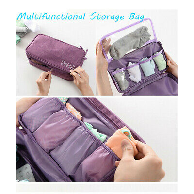 Travel Storage Bag Cosmetics Underwear Bras Socks Organizer Portable Box Pouch