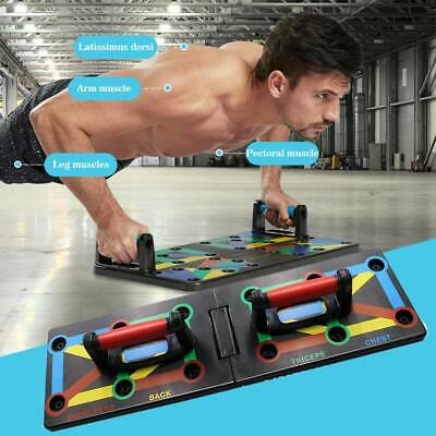 9 IN 1 PushUp Rack Board Fitness Workout Train Gym Muscle Exercise Pushup Stands