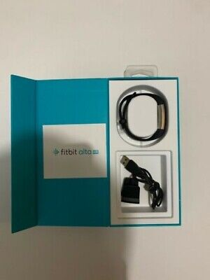 Fitbit Alta HR Black Stainless Steel Activity Tracker New Open Box