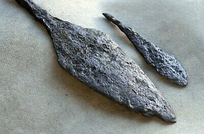 5145_1. Two arrowheads. Two-bladed. Rhombic. Middle Ages. Iron.