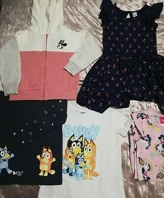 Brand New Size 3 Girls Minnie Mouse Hooded Jumper_Nightie_Bluey Tops_Dress +