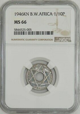 1946KN B.W. Africa 1/10 Penny MS66 NGC 941367-4