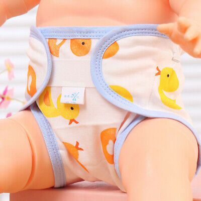 Baby Cotton Cloth Diaper Pants Breathable Washable Reusable Nappies Pocket Cover