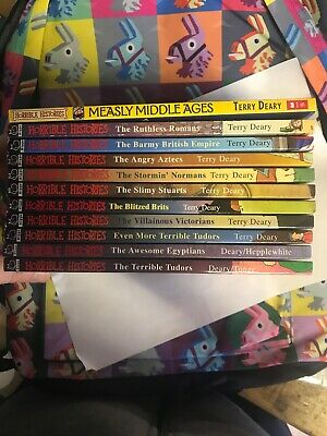 Set Of 11 x Horrible Histories Books Mixed Bundle Job Lot