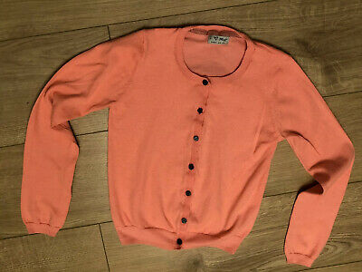 girls next orange cardigan size 9-10 yrs