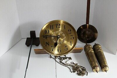 Entire Peerless German Grandfather Clock Works - Ready To Install In Your Case