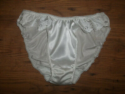 Vintage 1980s Stretchy Silky Nylon & Satin Bikini Panties Knickers Briefs S