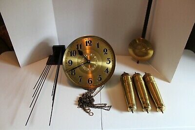 Entire German Grandfather Clock Works - Ready To Install In Your Case!!!