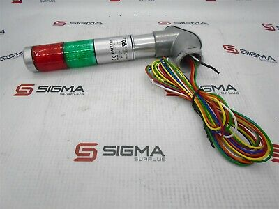 Patlite MPS-_02 Signal Tower (Red & Green) 24V AC/DC 0.2A
