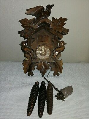 Vintage, 3 Weight, Musical Cuckoo Clock, Regula 25 Movement. Signed A Schneider.