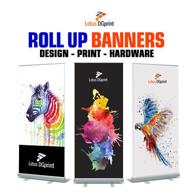 Roller Banner Stand - Pull up Banner - Roll Up Banner Display Stand, Trade Show