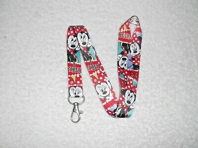 MINNIE MOUSE Character LANYARD Red & White N
