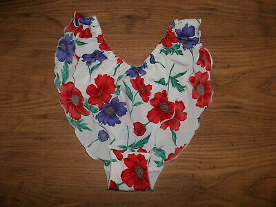 Vintage 1970s Floral Silky Poly Flutter Panties Knickers Briefs UK12-14