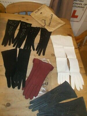 Vintage Ladies Gloves X 6   Pairs Good Condition