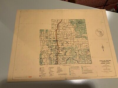 Vintage 1974 Otsego County Michigan DNR Highway & Recreation Information Map