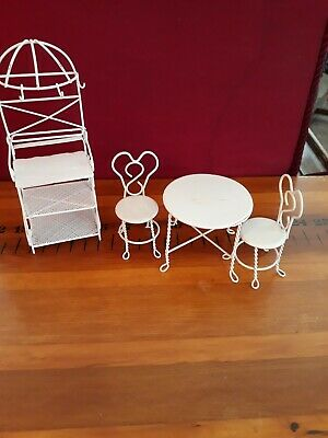 Dollhouse Miniature Furniture White Round Table Model scale New For 1//12 Co D4W1