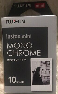 Fujifilm Instax Mini Mono Chrome Instant Film 10 Sheets New