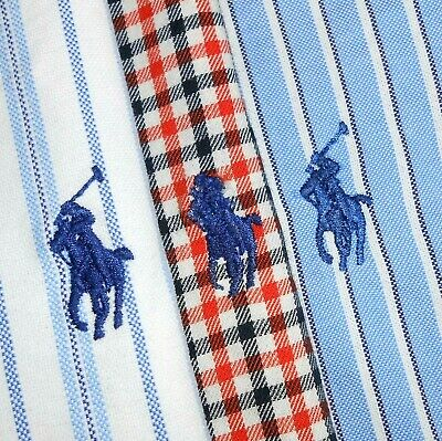 LOT OF THREE (3): Medium Polo Ralph Lauren CUSTOM FIT Button-Front Shirts PRL