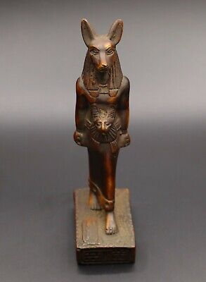 ANCIENT EGYPT EGYPTIAN ANUBIS Antiques GOD Deity Dog STATUE Fine STONE BC