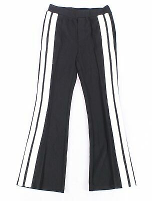 The Kooples Women's Black White Size 1 Sequin Striped Pants Stretch $200 #041