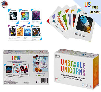 Unstable Unicorns Card Game - A strategic card game party game adults kids Gift