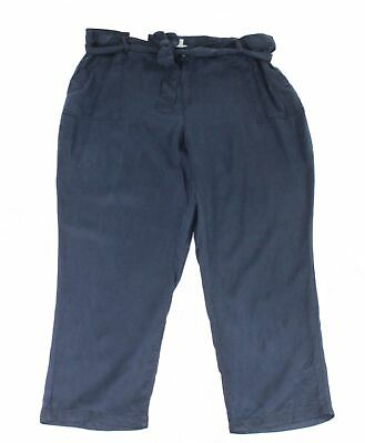 Style & Co. Women's Pants Blue Size 18W Plus High Rise Belted Soft $59 #085