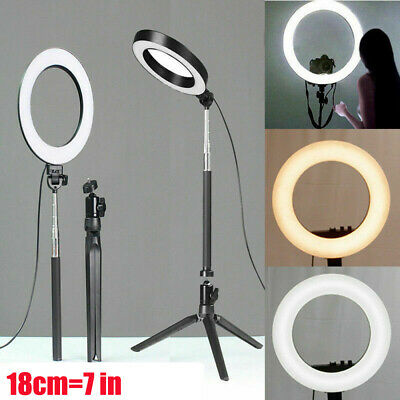 LED Ring Light Dimmable 5500K Lamp Photography Camera Photo Studio Phone Video.