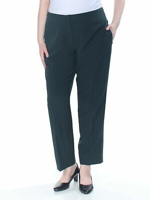 Kasper Women's Dress Pants Green Size 16 Straight Slim Crepe Stretch $79 #675