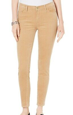 Tommy Hilfiger Women's Pants Beige Size 2 Skinny Corduroys Stretch $59 #089