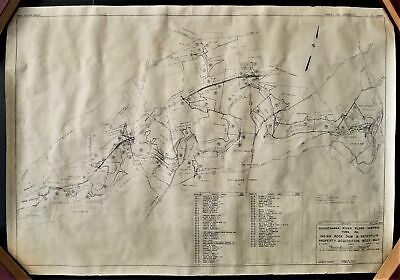 1939 antique YORK PA MAP susquehanna river flood control indian rock dam OWNERS