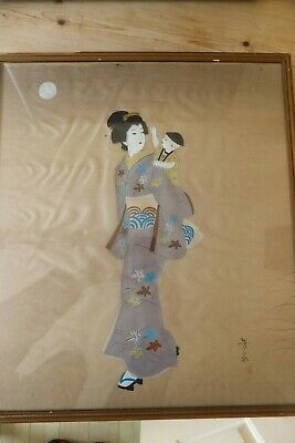 Japanese  Signed Painting on  Silk