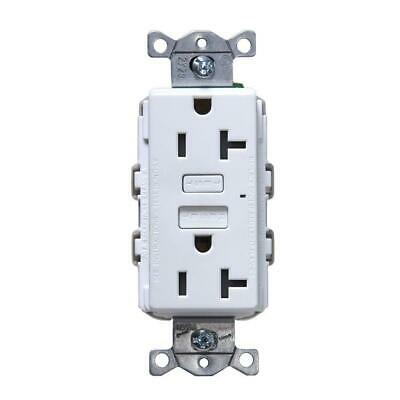 Hubbell White 20-Amp Decorator Outlet GFCI Residential/Commercial Outlet