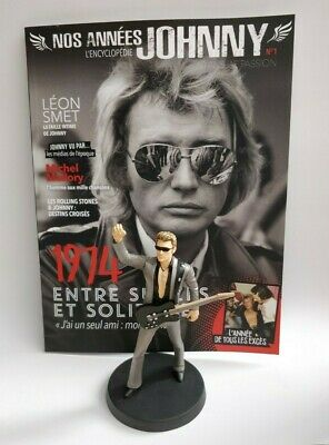 Figurine Johnny Hallyday 14 cm Neuf en boite + magazine N°1 Collection statuette