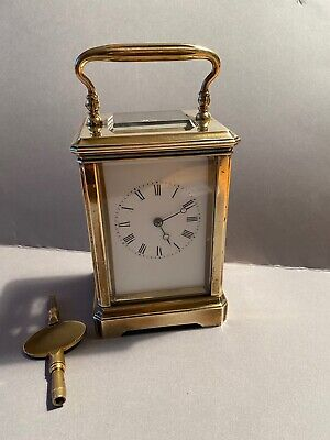 Brass 8 Day Striking Carriage clock