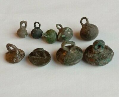 Ancient Bronze  Buttons Weights Viking
