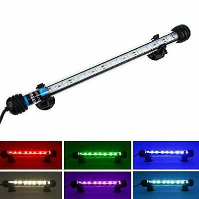 NICREW LED Aquarium Light, Submersible RGB Multicolor Lights with Remote for