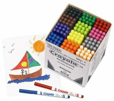Crayola Fineline Supertips Colouring Pens Classpack of 144 - 12 colours