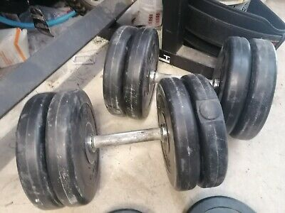 Dumbell dumbbells weights body building gym fitness set used 26kg of weights