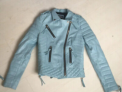 XXS Boda Skins Ladies The NKD Leather Jacket Womens Quilted Biker UK Sizes 4