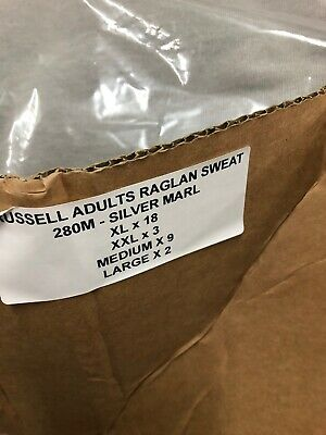 Box Of Russell Raglan Sweats 280M X 32
