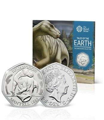 Dinosaur 50p Iguanadon Coin BU 2020 Royal Mint Pack Uk Coin Hunt Collectors BUNC