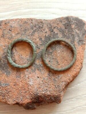 Bronze rings of the ancient Vikings.