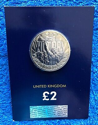2020 Victory In Europe Day £2 Two Pound Coin Brilliant Uncirculated Sealed Card