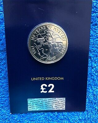 2020 £2 Two Pound Coin Agatha Christie BRILLIANT UNCIRCULATED SEALED NEW!.