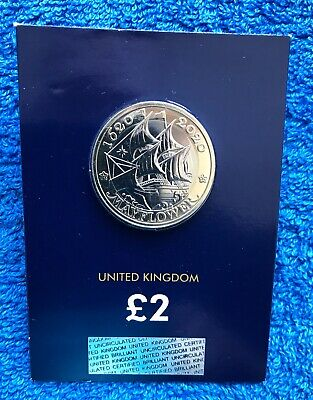 2020 Mayflower £2 Coin Brilliant Uncirculated Two Pound coin SEALED NEW!!.