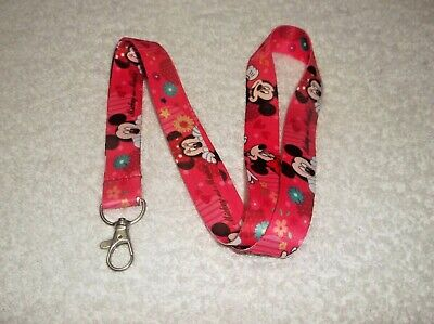 MICKEY & MINNIE MOUSE Character LANYARD Pink Q