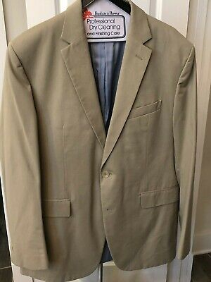 Banana Republic Suit Modern Fit 2 Button 44R Blazer, Pants 34x32 Cotton Khaki