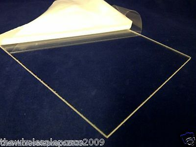 Perspex Sheet Clear Acrylic Panel 148mm x 210mm x 2mm Thick Sheet Sawn Edges