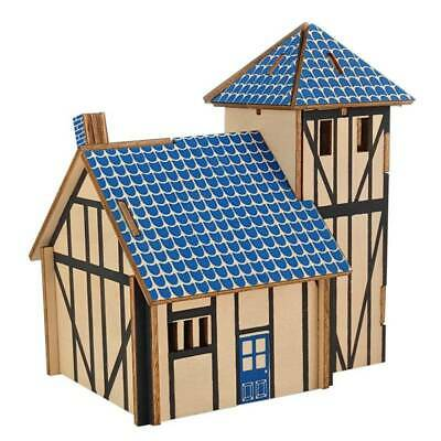3D Wooden Western-style Farmhouse Puzzle Educational Toys For Adult Kids Z